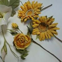 一足先に咲いた夏の布花レッスン