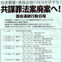 共謀罪法案廃案へ!5.12議員会館前集会