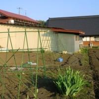 野菜の支柱棚