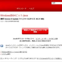 Java に脆弱性が見つかったようで、最新版にアップデートしました。