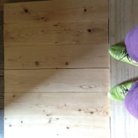 昔の家の台所の床