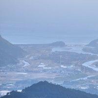 最近良く行く、広渡川と酒谷川の合流地点もよくわかります。 (Photo No.13977)