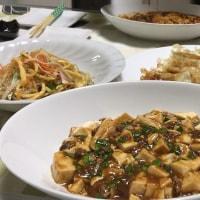 晩ご飯☆麻婆豆腐&プチプチ海藻麺で中華サラダ☆