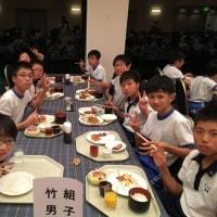 6年生 修学旅行1日目 夕食