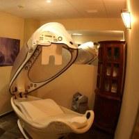 sala de massagem é quase um santuário