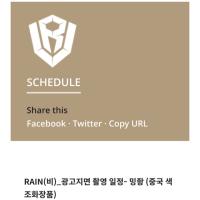 RAIN  スケジュール