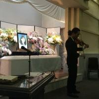 土曜日、お母さんを偲ぶレクイエムが式場に響きました