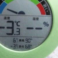 平成29年1月21日・今朝の東祖谷-3.3℃