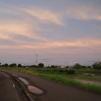 昨日の夕焼け @ 瀬戸川