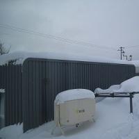 車庫屋根雪下ろし(4回目)