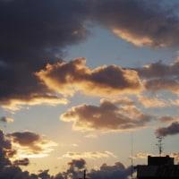 刻一刻と変化する夕焼け空(2017.1.13) (大阪府松原市)
