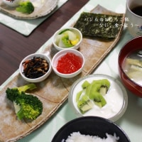 和朝食&ブロッコリーの芯の味噌汁