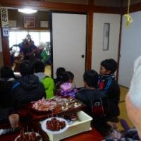 獅子舞を我が家で....おばばの米寿祝い