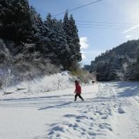 雪の青野山登山