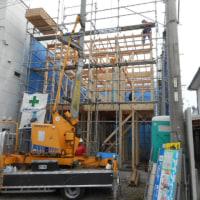 清水区興津駅徒歩1分の場所で建売新築工事を施工中です。
