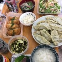 頂き物とお惣菜と手作りスープ