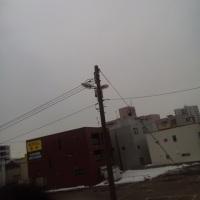 2017/3/21 午前8時半前札幌の空模様 曇天