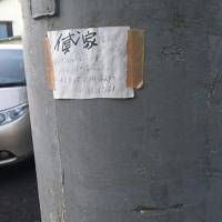 電柱の貼り紙
