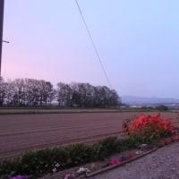 7時の夕空は 綺麗だった。