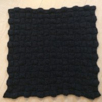 バスケット編みひざ掛け完成