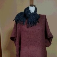 山の家から~~織り布を仕立てる