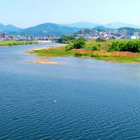 初夏の大和川へ