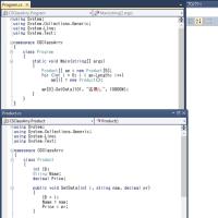 C#,VBでクラスインスタンスの確保(比較)