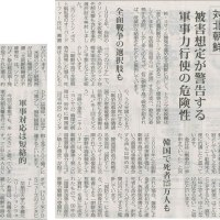 #akahata 対北朝鮮 被害想定が警告する軍事力行使の危険性・・・今日の赤旗記事