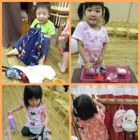 ひまわり組(3歳児)✩朝のお支度✩