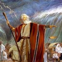 神の力で海を割った偉大な預言者