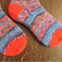 手編み靴下 作品NO.137