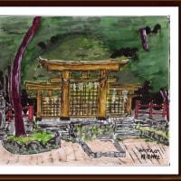 山の辺の道途中 (7)檜原神社の鳥居