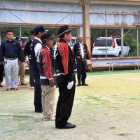 生坂村消防団 ポンプ車操法大会の訓練激励会
