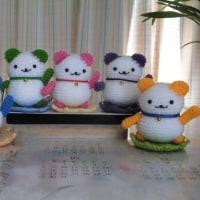 編みぐるみ 『招き猫』