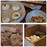 おやき作り  藤井荘で体験しました