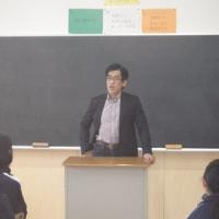 岸 博幸先生、楢葉中学校に来たる!2