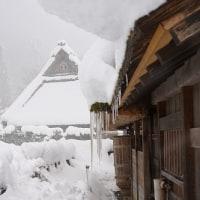 積雪の「かやぶきの里 美山」  京都府南丹市美山町北