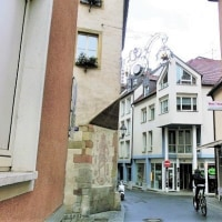 ドイツ・ビュルツブルクの街と装飾吊り看板(3)