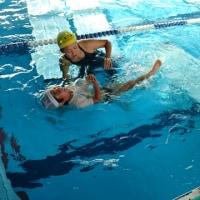 スイミングスクール 水の安全週間(着衣水泳)