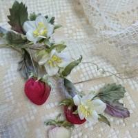 春のフルーツを布花で、召し上がれ。