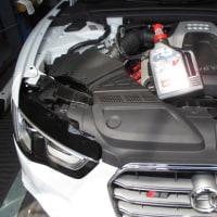 AUDI S5 エンジンオイル交換。