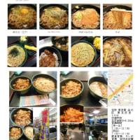 五反田で時間のないランチ「ゆで太郎」でミニ舞茸天丼定食(そば)+エビ天(サービス券)