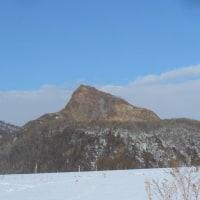 今日の有珠山と昭和新山