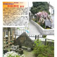 散策 「東京南西部-269」  利田神社  鯨塚