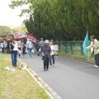 足王神社まつりで、核廃絶宣伝・署名行動