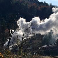 扇状の爆煙(磐西C57)