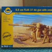8.8cm FLAK 37 AA gun with crew (No.7512)を作る