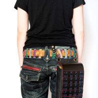 [オンラインショップ]ヴィレッジヴァンガード ウエブド追加納品 黒板札紺糸縅 鞄(小)とスマホポーチ