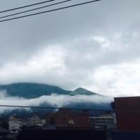 今日の由布岳 6/7 梅雨入りしました