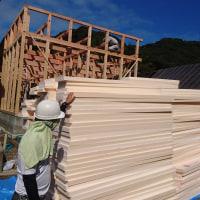 倉敷市玉島で建て方作業
